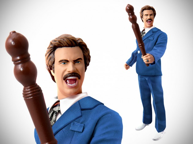 8-inch Battle Ron Burgundy Action Figure