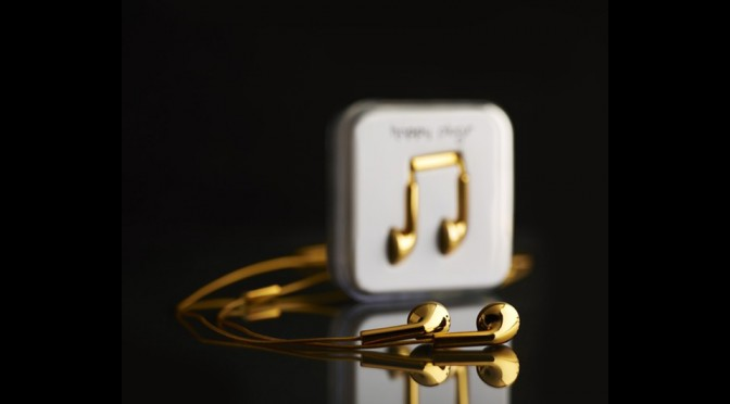 Happy Plugs 18-carat Solid Gold Earphones