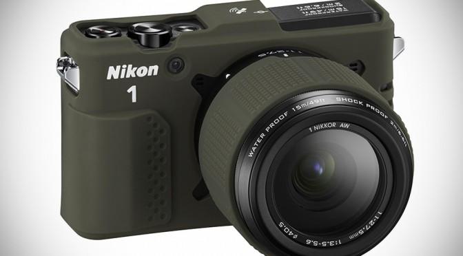 Nikon 1 AW1 Waterproof Interchangeable Lens Camera with optional skin