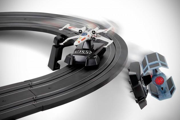The Star Wars Battling Fighters Slot Car Set