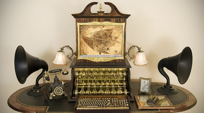 Victorian Retro Steampunk Computer by Datamancer