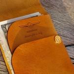MANEKIBOOK Purser Solar Leather Wallet
