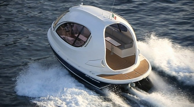 Water Jet Capsule by Pierpaolo Lazzarini