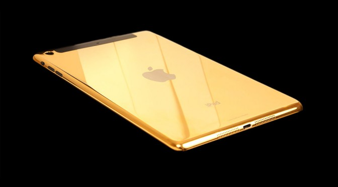 24 CT Gold iPad Air by Gold Genie - Back
