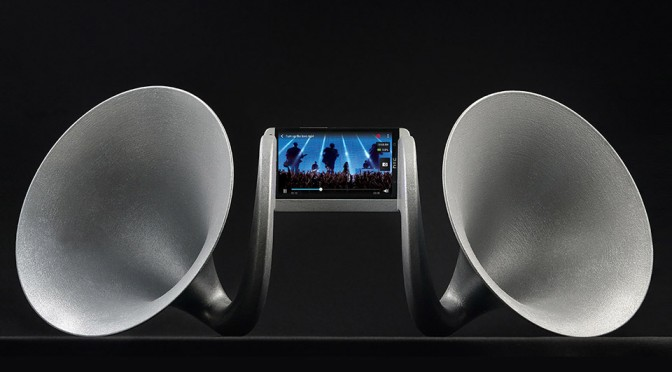 Gramohorn II 3D Printed Acoustic Speaker for HTC One