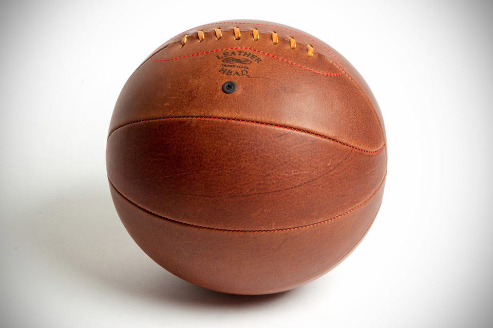 Leather Head Naismith Style Lace Up Basketball - MIKESHOUTS