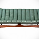 Teal Midcentury Sofa by Kelly Wearstler