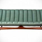 Teal Midcentury Sofa by Kelly Wearstler