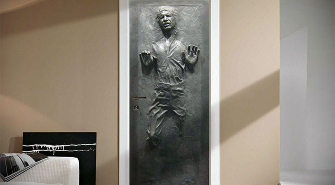 Han Solo In Carbonite Life-size Wall Decal Sticker