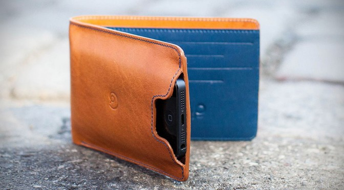 Leather Wallet with iPhone 5 Case by Danny P.