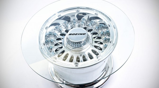 Boeing 777 Wheel Coffee Table
