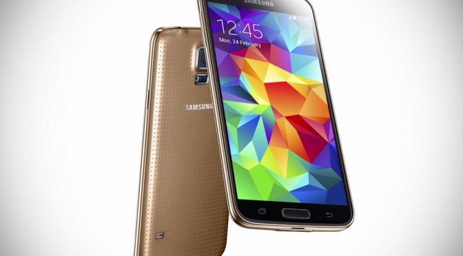 Samsung Galaxy S5 Smartphone - Copper GOLD
