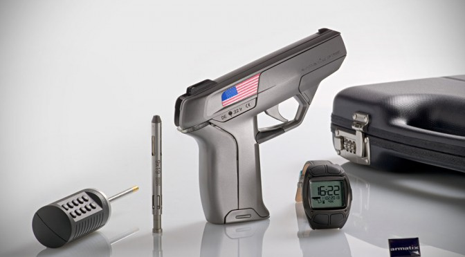 Smartwatch-controlled .22 LR Caliber Pistol System