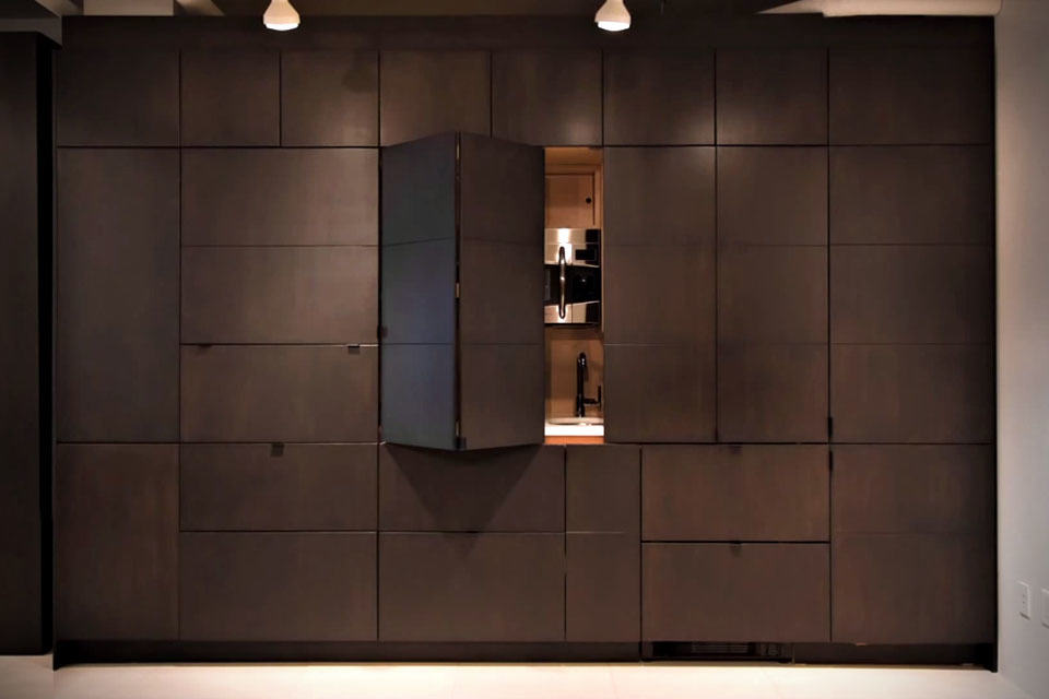 stealth kitchen by resource furniture mikeshouts. Black Bedroom Furniture Sets. Home Design Ideas