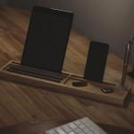 DeskPal One-Piece Wood Desk Tidy