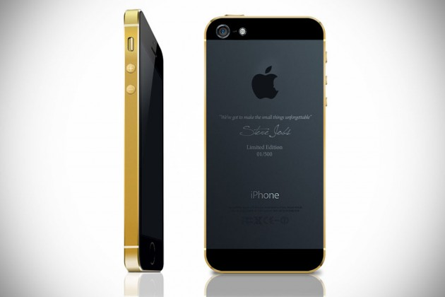 Gold-plated Limited Edition iPhone 5s by GineeX Studio
