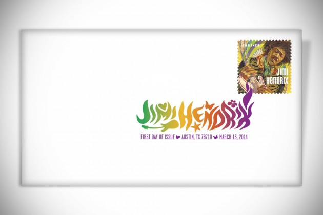 Jimi Hendrix Forever Stamp - Digital Color Post Mark