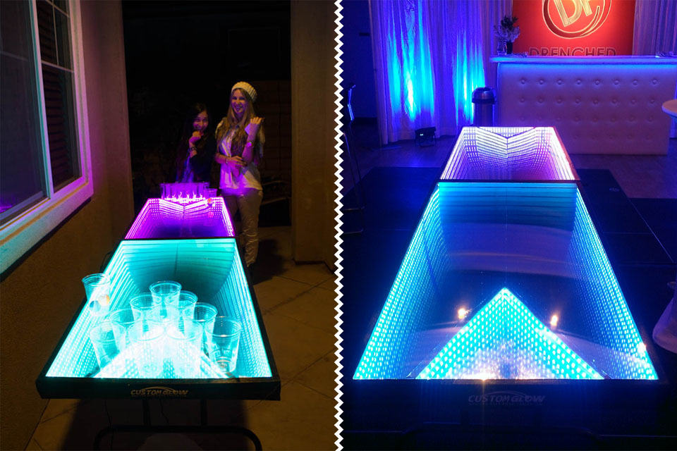 Light Up Led Beer Pong Table Mikeshouts