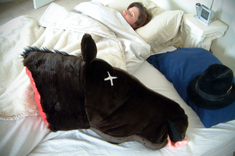 Severed Horse Head Pillow Mikeshouts