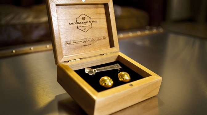 Executive Balls of Steel 18K Gold Chillers