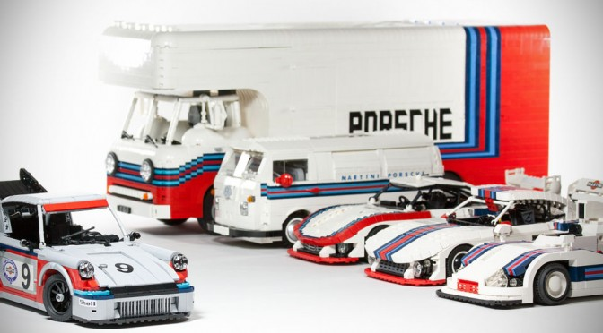 Custom LEGO Martini Porsche Racing Set by Malte Dorowski