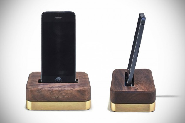 Limited Edition Brass + Walnut Dock