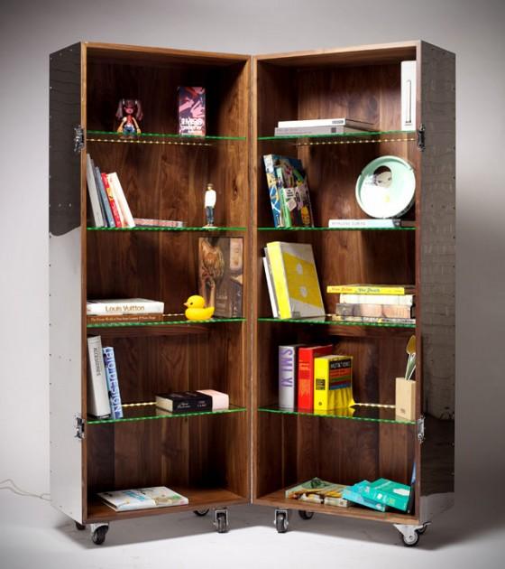 Furniture in Crates By Naihan Li - Bookshelf