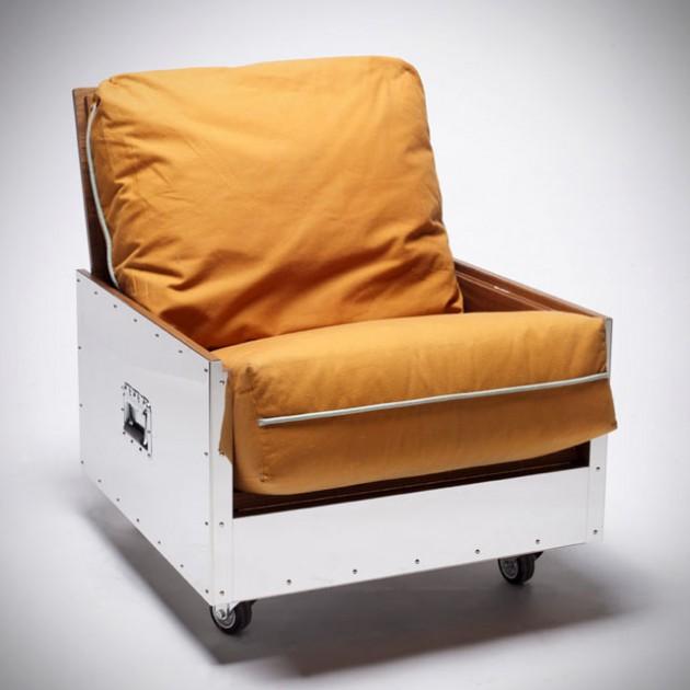 Furniture in Crates By Naihan Li - Single Sofa