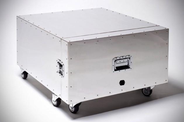 Furniture in Crates By Naihan Li - Tea Table closed