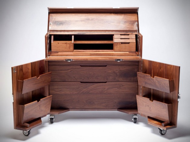 Furniture in Crates By Naihan Li - Writing Desk