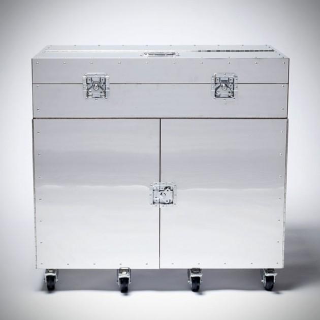 Furniture in Crates By Naihan Li - Writing Desk closed
