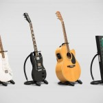 bnd Is A Bendable Travel Guitar Stand That Slips Into Your Backpack