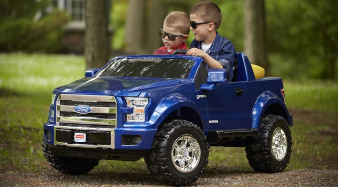 3rd Generation Power Wheels F-150 Ride-on Toy Is The Kiddie Version Of The 2015 F-150