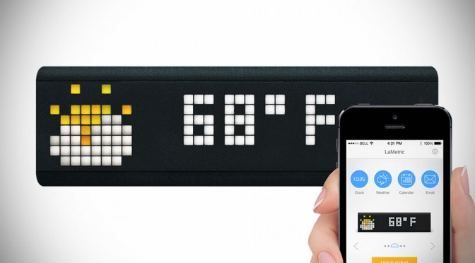 LaMetric Lets You View Information That Matters At A Glance, On Your Desk