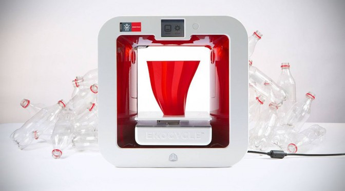 EKOCYCLE Cube Prints 3D Print Projects Using Post-Consumer Plastic Waste