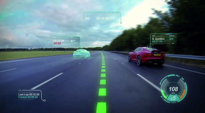 Jaguar Virtual Windscreen Concept