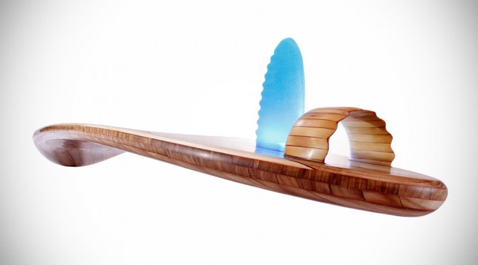 Rampant Wooden Surfboard By Roy Stuart