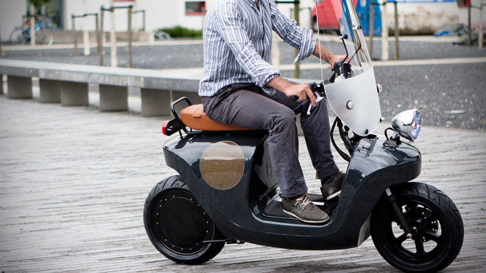 could the be e bio based electric scooter be as iconic as. Black Bedroom Furniture Sets. Home Design Ideas