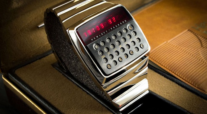 1977 Hewlett-Packard HP-01 Chrome Prototype LED Calculator Watch