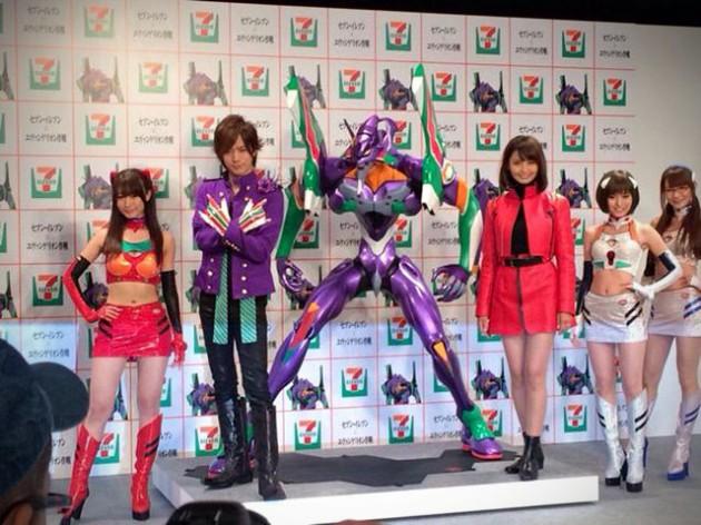 7-Eleven Evangelion Statue