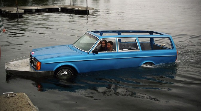 This Dude Turned A Volvo 240 Wagon Into A Delightful Amphibious Vehicle