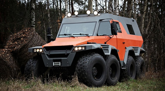 Avtoros Shaman 8×8 ATV Is An Off-road Beast That Can Maneuver Sideways.
