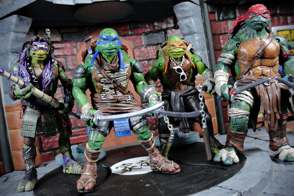 Tmnt Movie Toys : Someone just turned toy ish tmnt action figures into