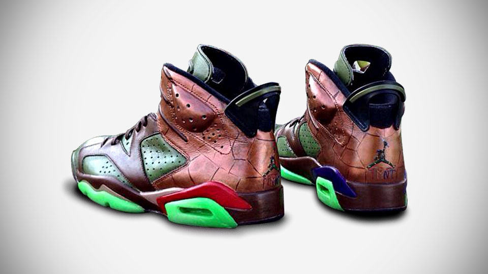 Custom Teenage Mutant Ninja Turtles Air Jordan Replaces Jumping Jordan