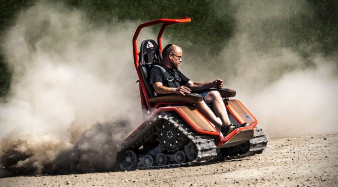 If Professor X Is Badass Enough, This Wheelchair With Tank Treads Would Be His Wheelchair Of Choice