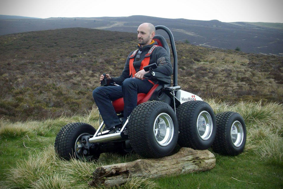 Hexhog gives wheelchair bound users the power to explore for All terrain motorized wheelchairs