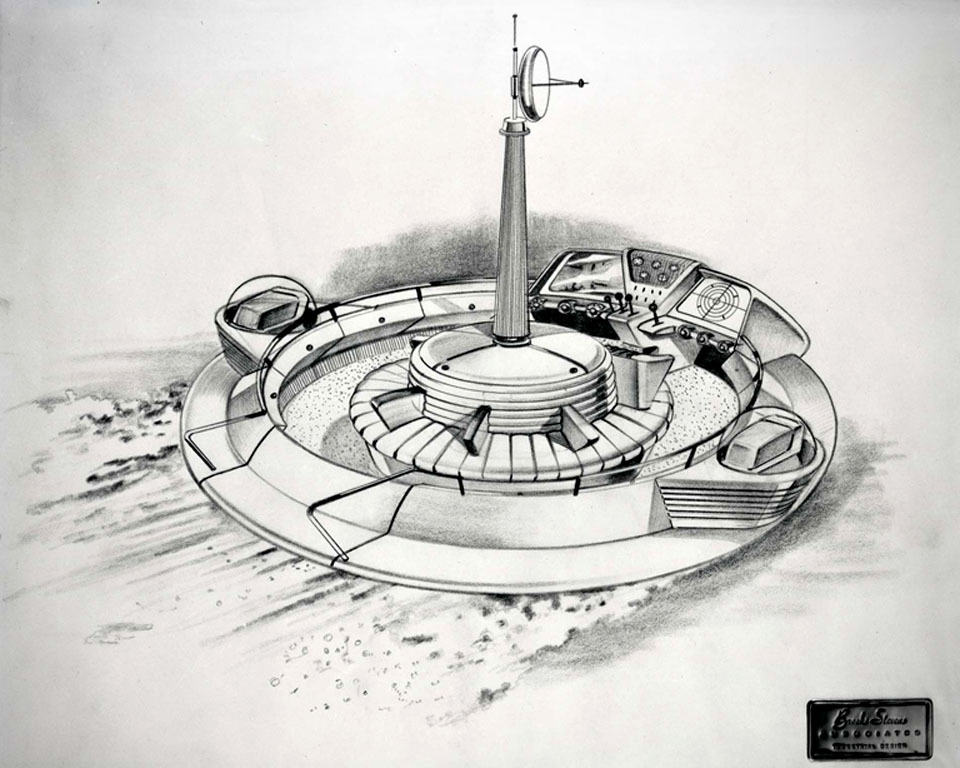 This 1957 Evinrude Flying Saucer Fishing Boat Is So