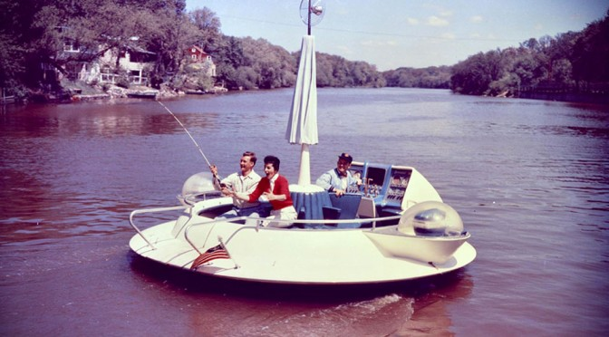 This 1957 Evinrude Flying Saucer Fishing Boat Is So Radical That It Should Be Called 'Fishing Saucer'