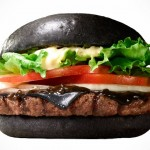 In Japan, Black Burger Is Blacker With Squid Ink and Black Cheese That Looks Like Melting Tires