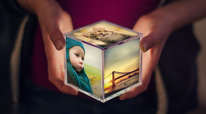 Cubee Illuminating Instagram Photo Cube